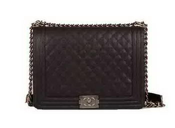Chanel Boy Flap Shoulder Bag Original Cannage Pattern A67087 Black