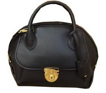 Ferragamo Medium Tote Bag Calfskin Leather SF0612 Black