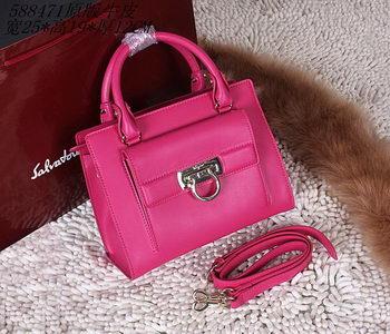 Ferragamo Shoulder Tote Bag Calfskin Leather 588473 Rose