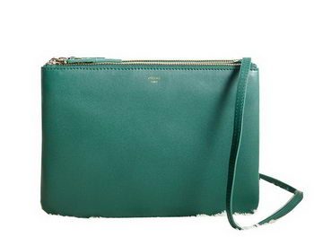Celine Trio Crossbody Messenger Bag C3000 Dark Green