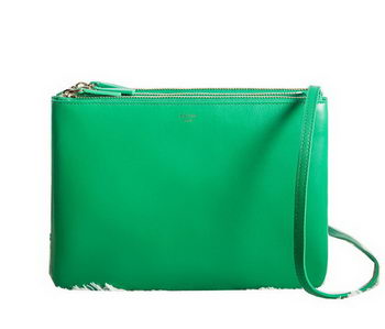 Celine Trio Crossbody Messenger Bag C3000 Green
