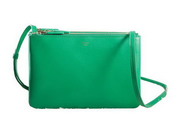 Celine mini Trio Crossbody Messenger Bag C3001 Green