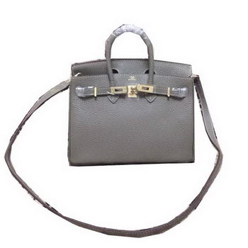 Hermes Birkin 25CM Tote Bag Original Leather H25 Dark Grey
