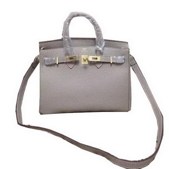 Hermes Birkin 25CM Tote Bag Original Leather H25 Grey