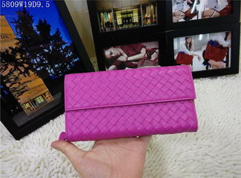 Bottega Veneta Intrecciato Nappa Continental Wallets 5809 Rose