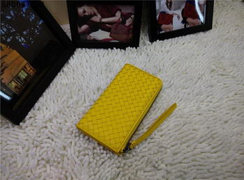 Bottega Veneta Intrecciato Nappa Zip Around Wallet BV5800 Lemon