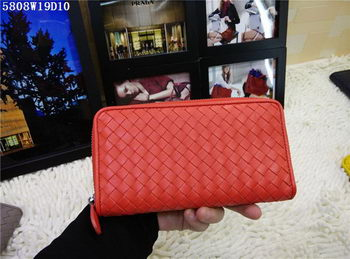 Bottega Veneta Intrecciato Nappa Zip Around Wallet BV5808 Orange