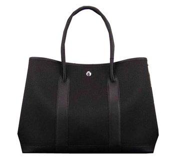 Hermes Garden Party 36cm 30cm Tote Bag Canvas Black