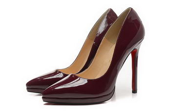 Christian Louboutin 120mm Pump Patent Leather CL1487 Burgundy