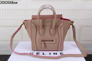 Celine Luggage Nano Bag Original Leather CTS3309 Apricot