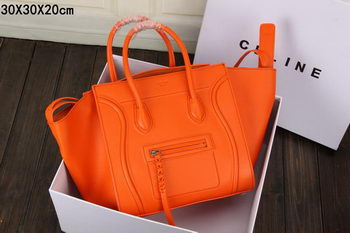 Celine Luggage Phantom Tote Bag Smooth Leather CT3341 Orange