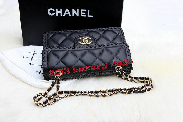 Chanel 2.55 Series Flap Bags Original Lambskin Leather A8229 Black
