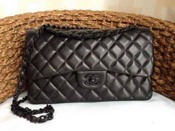 Chanel Classic Flap Bags Original Lambskin Leather A1113 Black