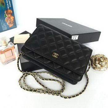 Chanel mini Flap Bag Black Original Sheepskin A33814 Gold