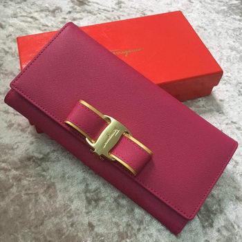 Ferragamo Continental Wallet Calfskin Leather SF30200 Rose