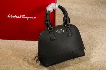 Ferragamo Medium Double Gancio Tote Bag 21E703 Black