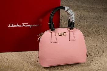 Ferragamo Medium Double Gancio Tote Bag 21E703 Pink