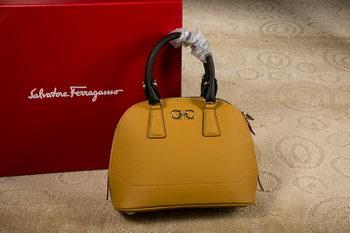 Ferragamo Medium Double Gancio Tote Bag 21E703 Yellow