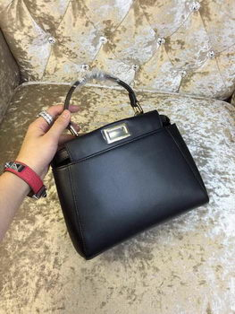 Fendi mini Peekaboo Bag Calfskin Leather 30320 Black