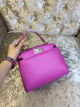 Fendi mini Peekaboo Bag Calfskin Leather 30320 Purple