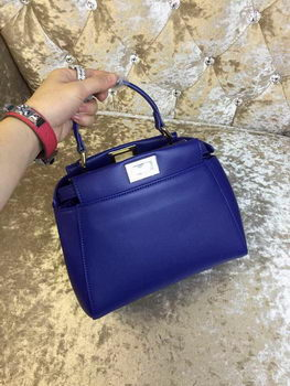 Fendi mini Peekaboo Bag Calfskin Leather 30320 Royal