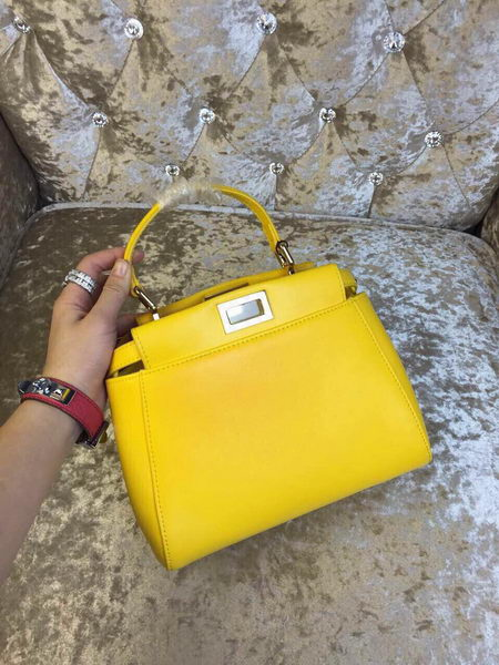 Fendi mini Peekaboo Bag Calfskin Leather 30320 Yellow