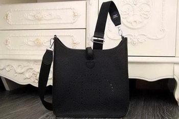 Hermes Evelyne 28cm Messenger Bag Original Leather H1188 Black