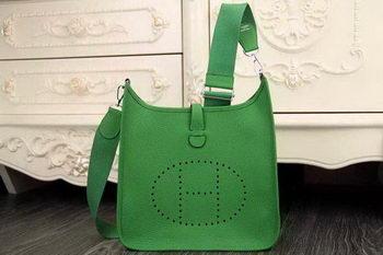 Hermes Evelyne 28cm Messenger Bag Original Leather H1188 Green