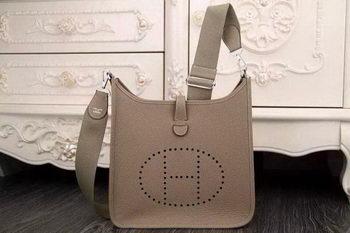 Hermes Evelyne 28cm Messenger Bag Original Leather H1188 Grey