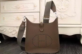 Hermes Evelyne 28cm Messenger Bag Original Leather H1188 Khaki