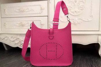 Hermes Evelyne 28cm Messenger Bag Original Leather H1188 Rose