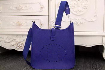 Hermes Evelyne 28cm Messenger Bag Original Leather H1188 Royal