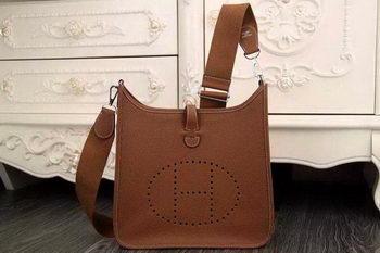 Hermes Evelyne 28cm Messenger Bag Original Leather H1188 Wheat
