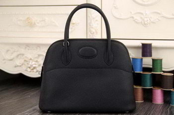 Hermes Bolide 31CM Original Leather Tote Bag Black