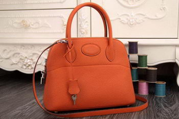 Hermes Bolide 31CM Original Leather Tote Bag Orange