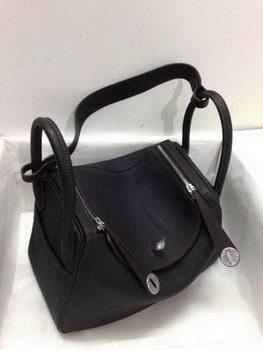 Hermes Lindy 30CM Original Leather Shoulder Bag HLD30 Black