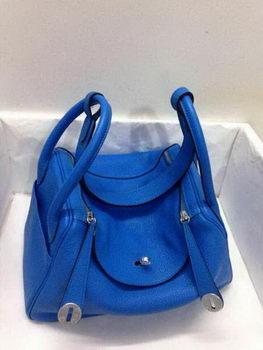 Hermes Lindy 30CM Original Leather Shoulder Bag HLD30 Blue