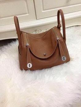 Hermes Lindy 30CM Original Leather Shoulder Bag HLD30 Brown