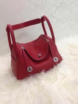 Hermes Lindy 30CM Original Leather Shoulder Bag HLD30 Burgundy