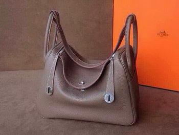 Hermes Lindy 30CM Original Leather Shoulder Bag HLD30 Dark Grey