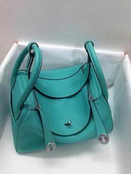 Hermes Lindy 30CM Original Leather Shoulder Bag HLD30 Green