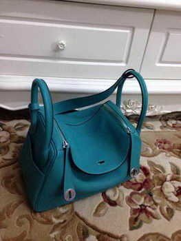Hermes Lindy 30CM Original Leather Shoulder Bag HLD30 Light Green