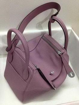 Hermes Lindy 30CM Original Leather Shoulder Bag HLD30 Light Purple