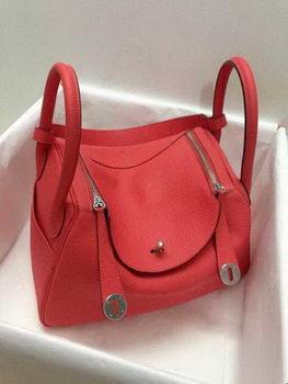 Hermes Lindy 30CM Original Leather Shoulder Bag HLD30 Light Red