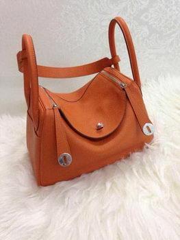 Hermes Lindy 30CM Original Leather Shoulder Bag HLD30 Orange
