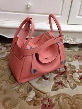 Hermes Lindy 30CM Original Leather Shoulder Bag HLD30 Pink