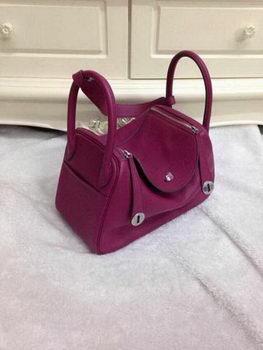 Hermes Lindy 30CM Original Leather Shoulder Bag HLD30 Purple