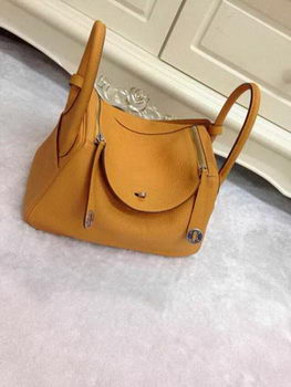 Hermes Lindy 30CM Original Leather Shoulder Bag HLD30 Wheat