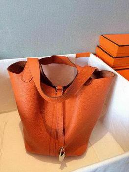 Hermes Picotin Lock 22cm Bags Litchi Leather HPT22 Orange
