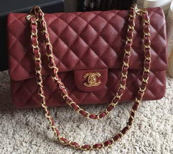Chanel 2.55 Series Flap Bag Original Caviar Leather A1112 Burgundy